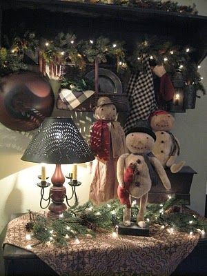 primitive christmas decorating ideas - Pinterest Primitive Christmas Decorating Ideas
