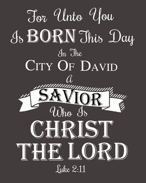 Christmas Bible Verse!   Luke 2:11