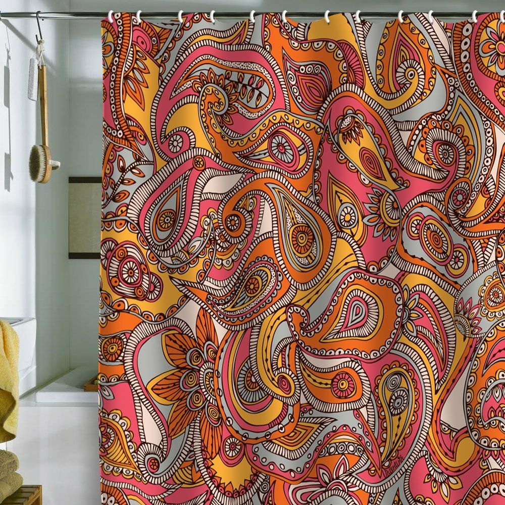 Paisley Bathroom Decor Bathroomdecor Beautiful Colorful Shower Curtain Several Colors That Would Be