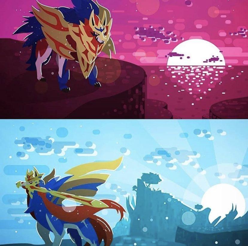 Zamazenta Crowned Shield Form Zacian Crowned Sword Form Pokemon Art Pokemon Ghost Pokemon