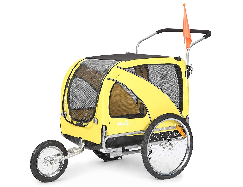 Sepnine Pet Dog Bike Trailer Biking with dog, Dog
