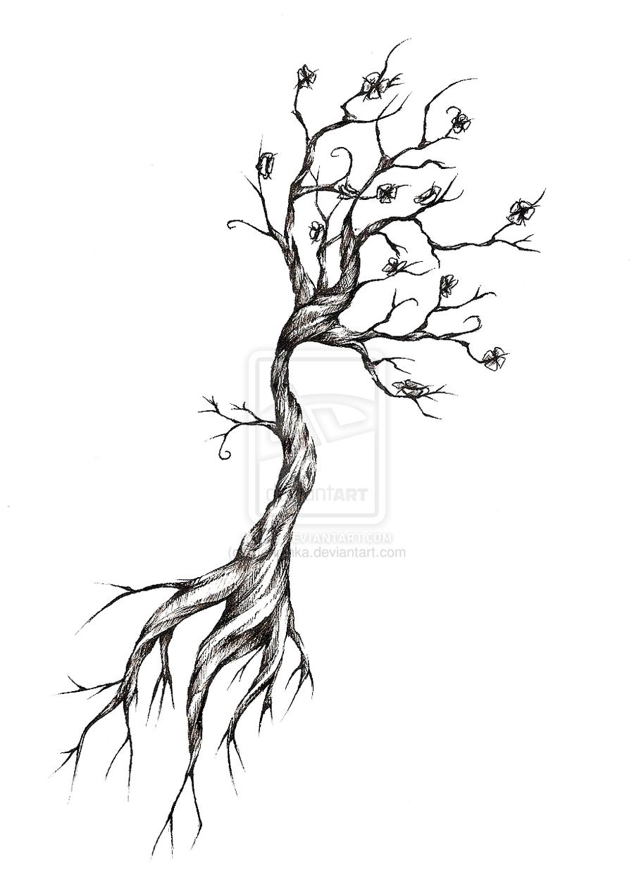 Tree Tattoo Design By Meripihka Deviantart Com On Deviantart Tree Roots Tattoo Tree Tattoo Arm Tree Tattoo Small