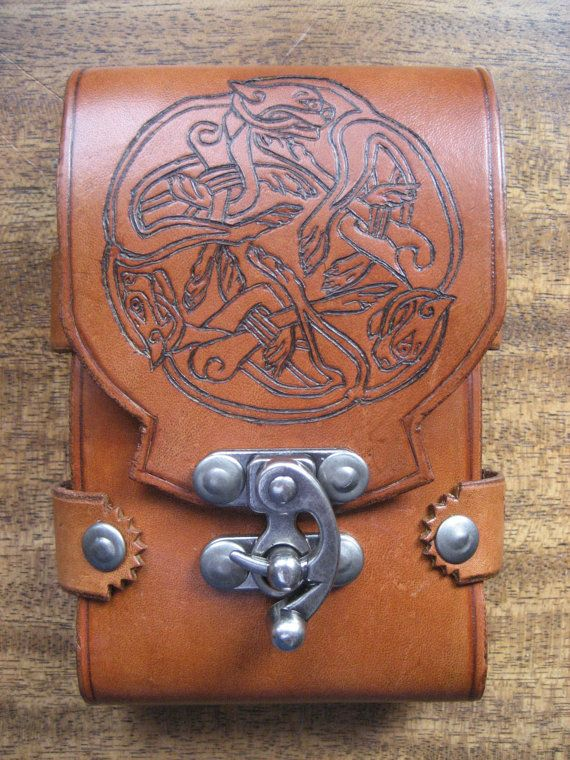 Celtic Dog iPhone Sporran/Case by MoncrieffLeathers on Etsy, $75.00