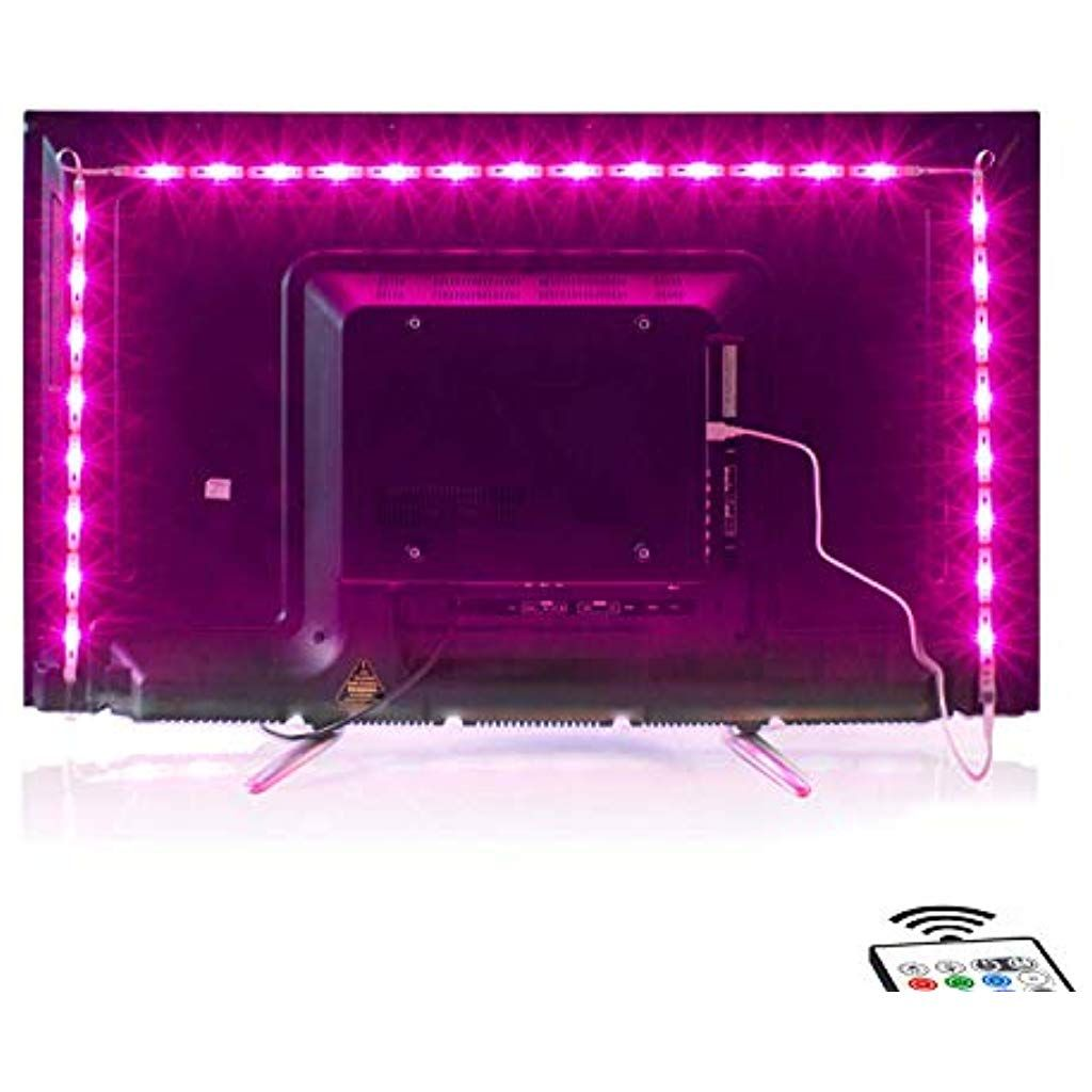 2m Led Tv Backlight Usb Bias Lighting With 16 Colors And 4 Dynamic Mode For 40 To 60 Inch Hdtvpc Monitorled Light Strip In 2020 Led Beleuchtung Beleuchtung Lichtleiste