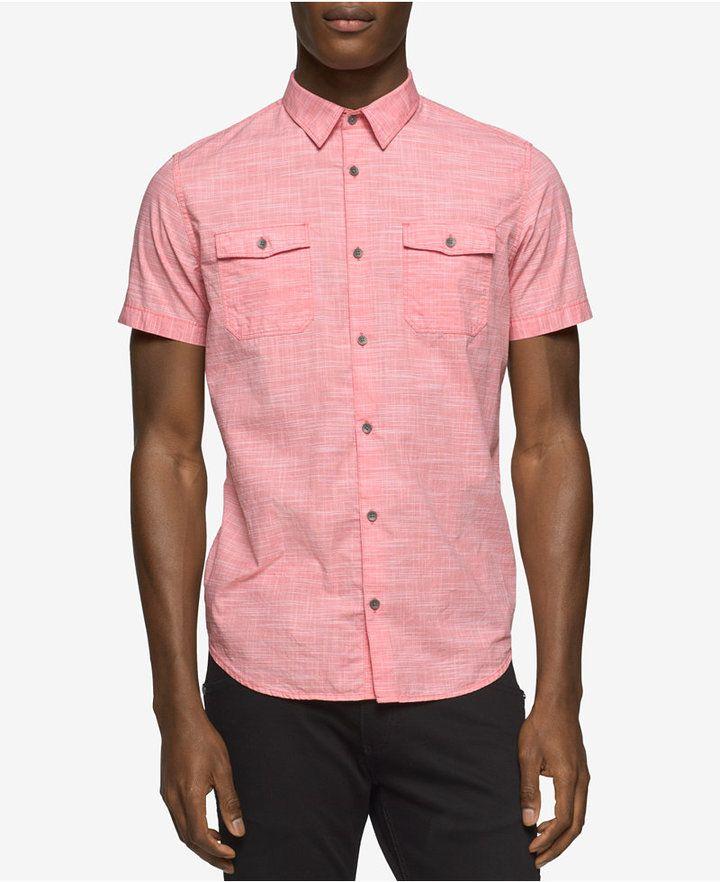 Klein Cross Men's Shirt Hatch Jeans Cotton Calvin bYgf6y7