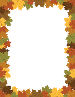 Page 5 Fall Borders Clip Art Borders Leaf Border