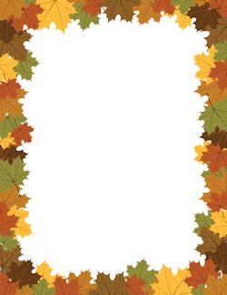Free Fall Borders Clip Art Page Borders And Vector Graphics Feuille Automne Bordures De Page Bordures Et Cadres