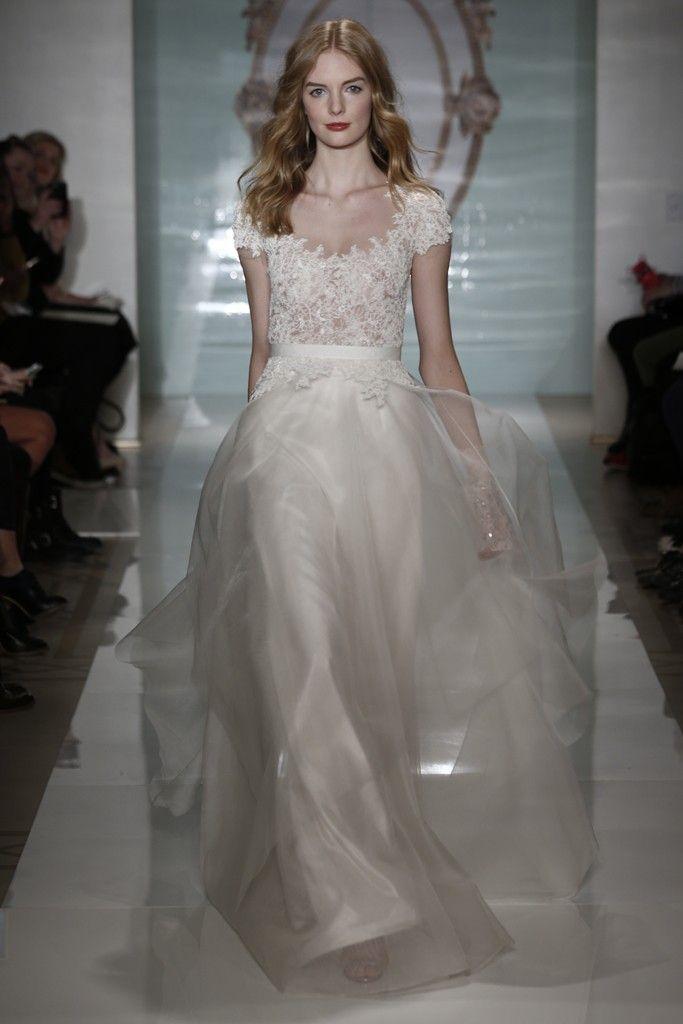 Reem Acra Bridal Spring 2015 Reem Acra Bridal Wedding Dresses Silk Wedding Dress
