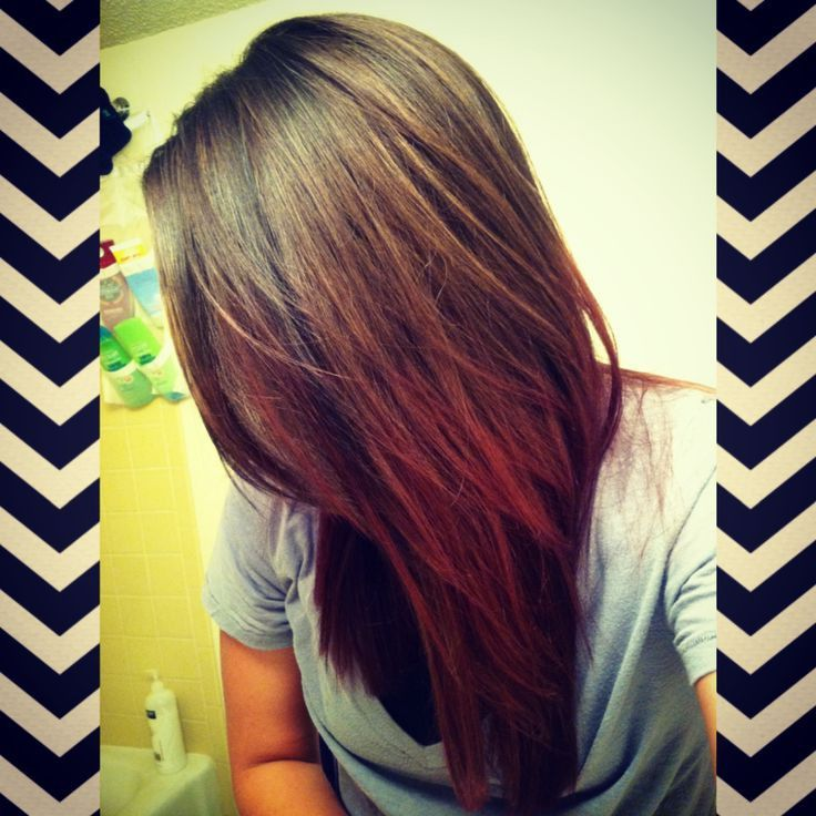 Dark Brown To Red Ombr Hair | Hair ideas | Red ombre hair ...