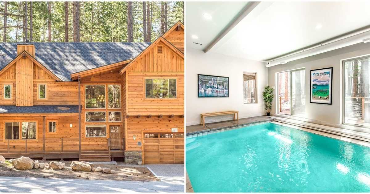This Forest Airbnb In California Comes With An Indoor Pool Hot Tub In The Pines Pool Hot Tub Hot Tub Outdoor Hot Tub
