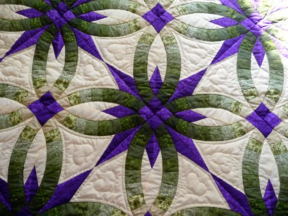 Amish Wedding Star Quilt Double Wedding by QuiltsByAmishSpirit  WOW