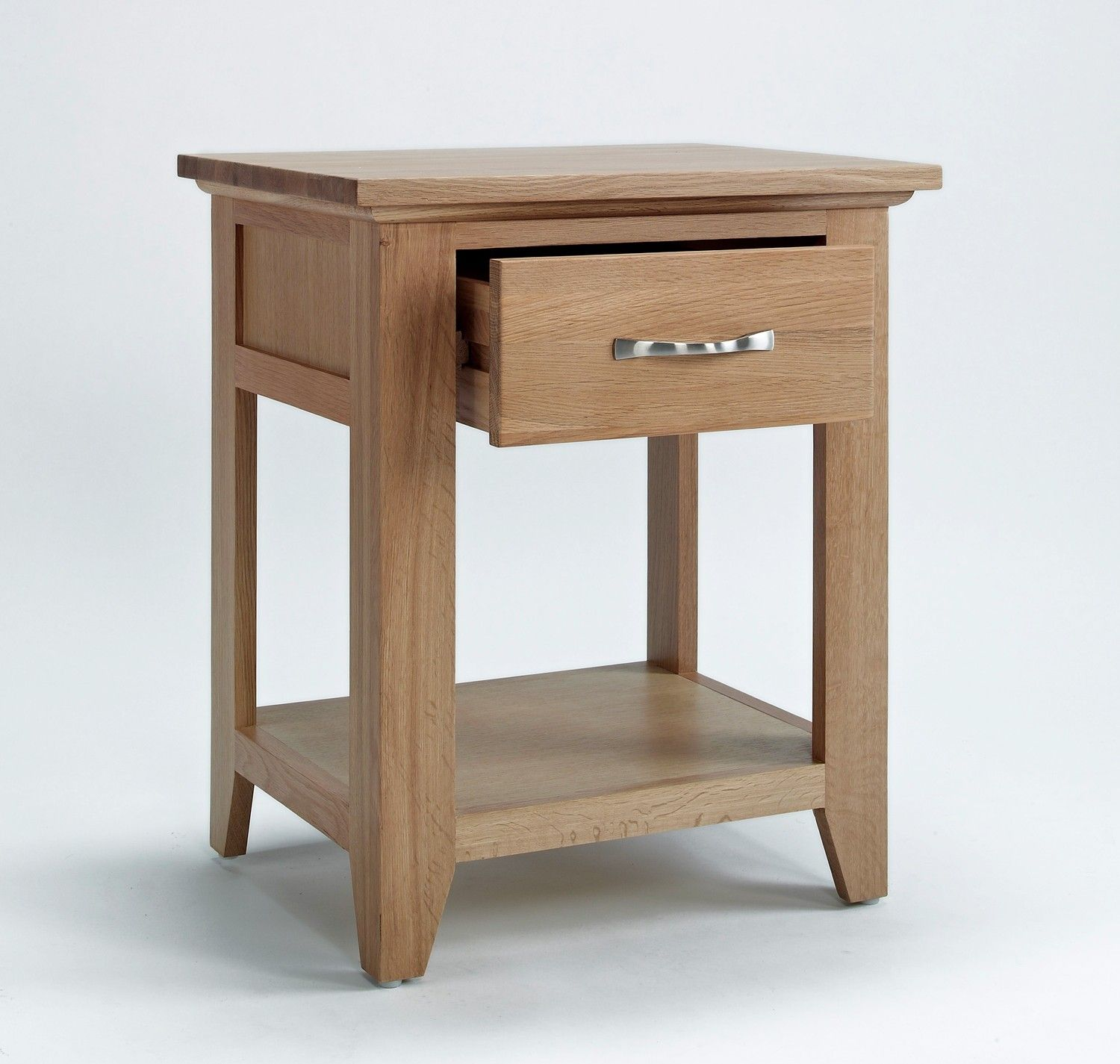 Sherwood Oak Lamp Table With Drawer Lamp / Side tables