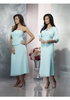 Sheath/Column Strapless 3/4-Length Tea-length Chiffon Mother of the Bride Dress #VJ606 - See more at: http://www.avivadress.com/wedding-apparel/mother-of-the-bride-dresses.html?p=5#sthash.nOZAQIiH.dpuf