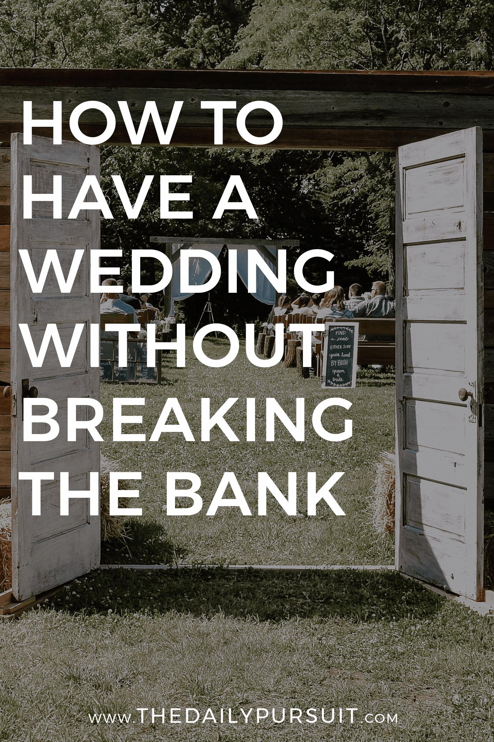 wedding ideas on a budget that is fine.