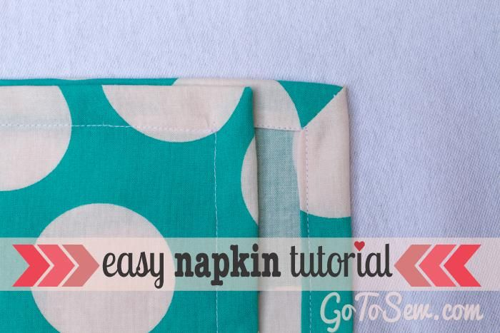 DIY Crafts DIY sew cloth napkins with an easy mitered corner | Home ...