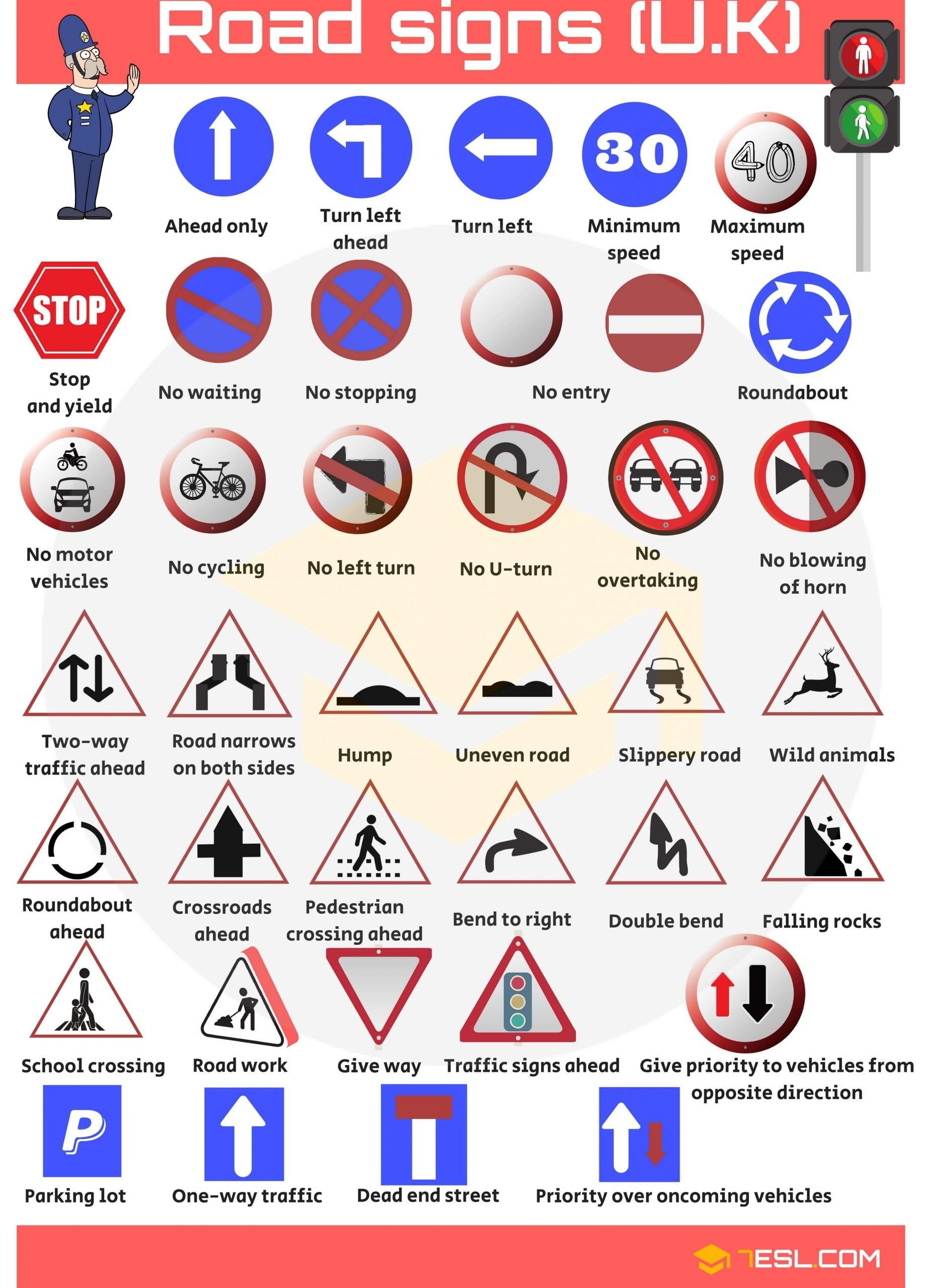 Free Printable Safety Signs Worksheets Traffic Safety