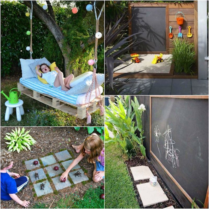 Aire de jeux au jardin coin repos et id es d 39 activit s de - Jeux de jardin pour enfant ...