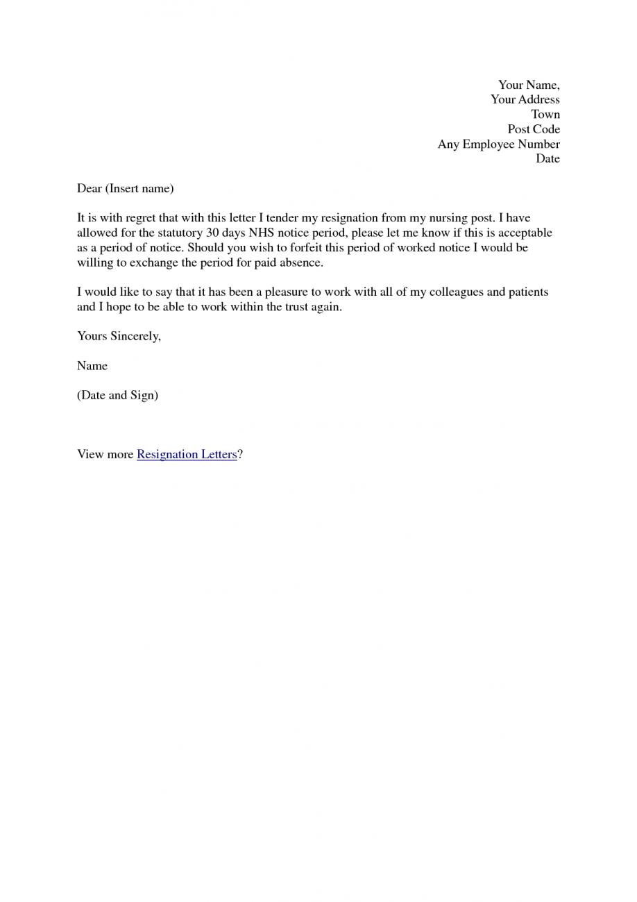 Resignation Letter Nurse Practitioner Lettercard Co