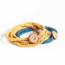 You only need to know two stitches to crochet this simple wrap bracelet!