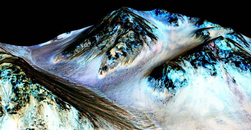 NASA Announces That Water Is Flowing on Mars - The Atlantic