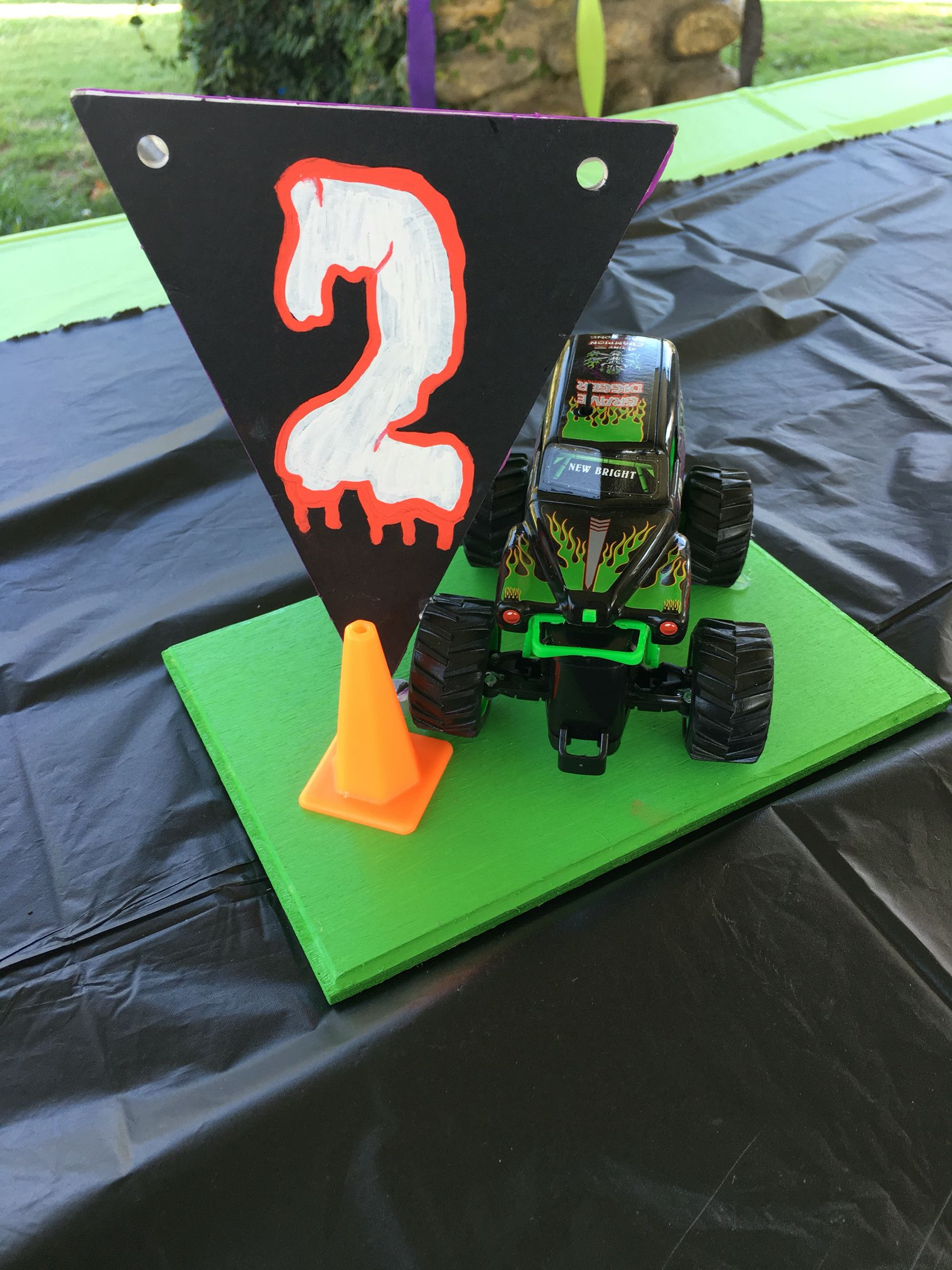 Monster Jam Centerpieces Monster Jam Birthday In 2019