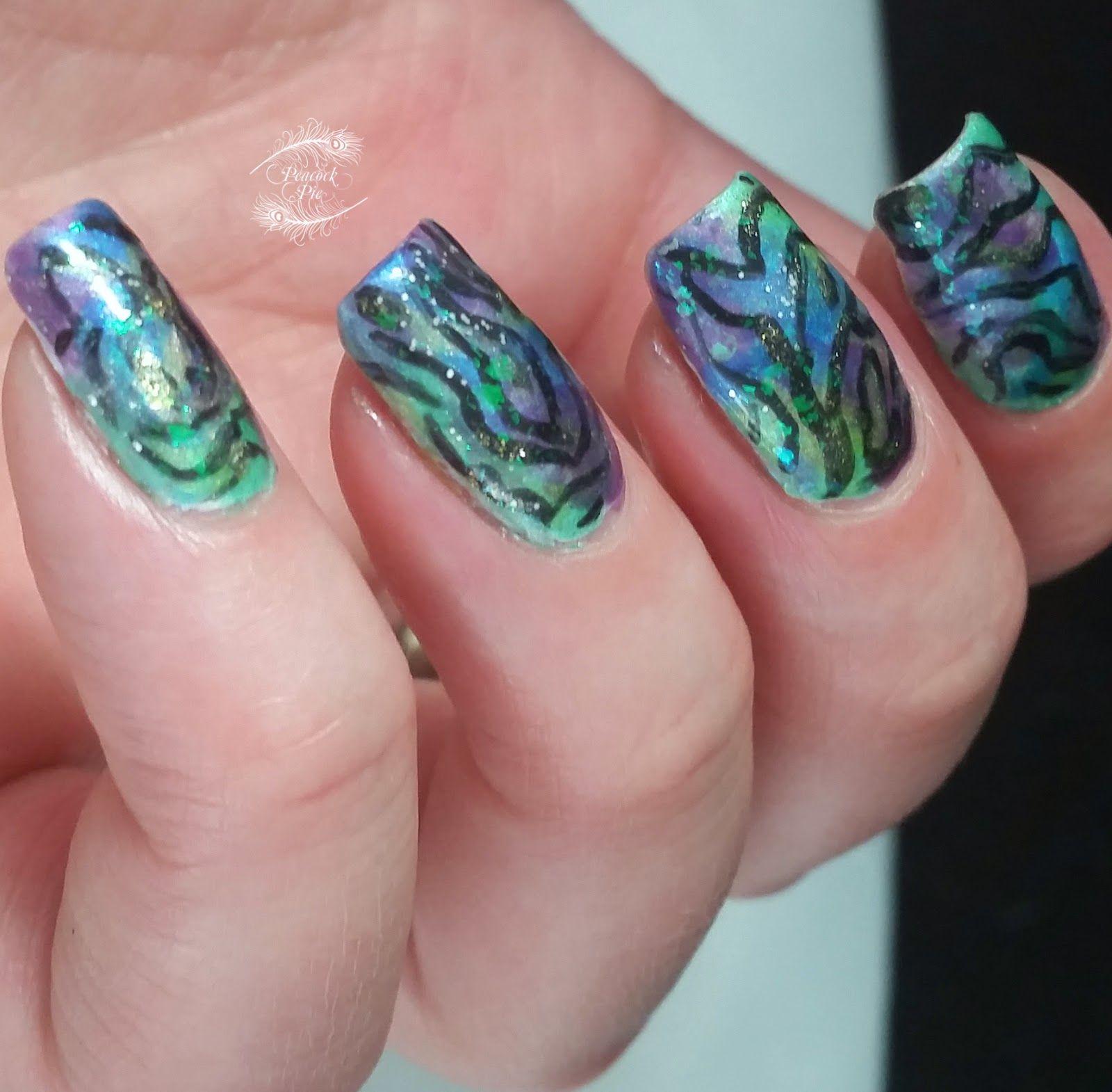 Paua Shell Nail Art