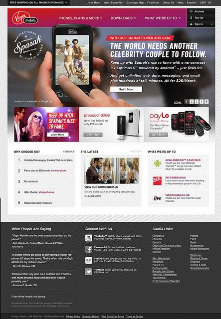 Virgin Mobile Web Design Mobile Web Design Web Design Mobile Web
