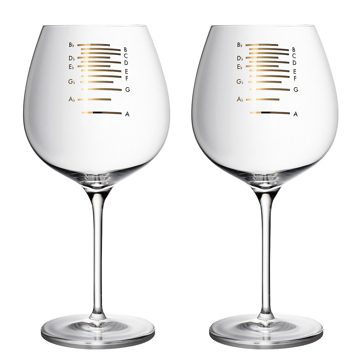 Golden Musical Wine Glasses: Wine and dine in perfect tune! I pretty much need these.