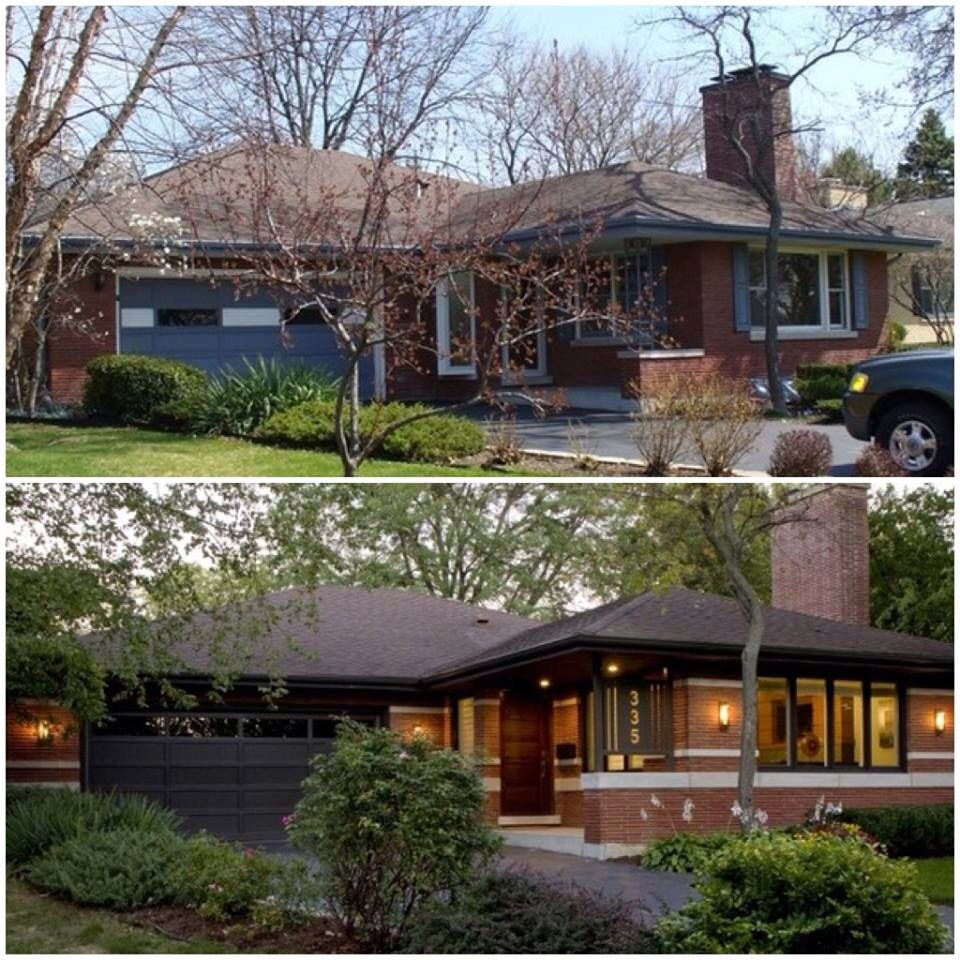 Home Exterior Makeover: Before & After Curb Appeal. Pinned For You By Tonyeil