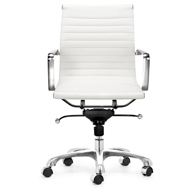 Manhattan Adjustable White Office Chair   Overstock™ Shopping   Great Deals  On Office Chairs