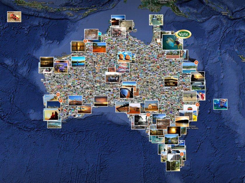 australia tourist attractions map