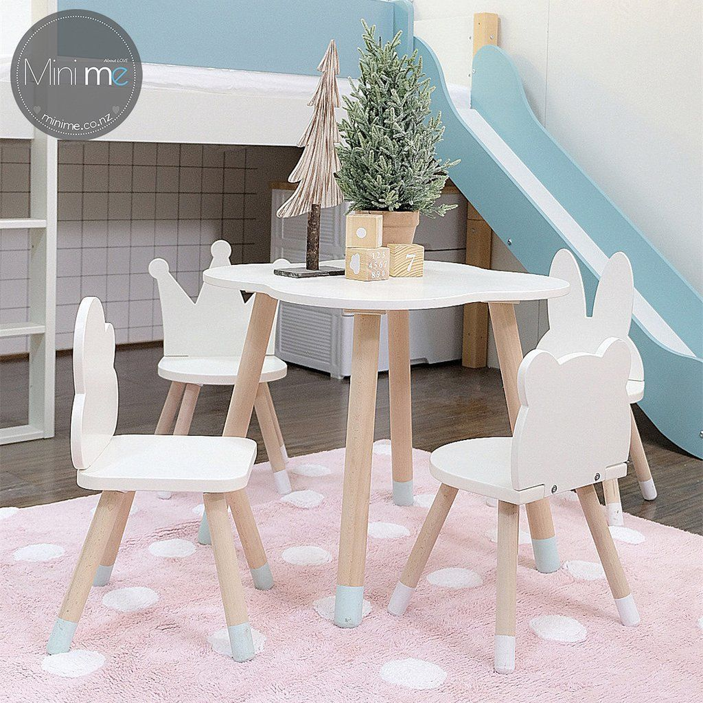 FUN Wooden Kids Table and Chairs Set Детская мебель