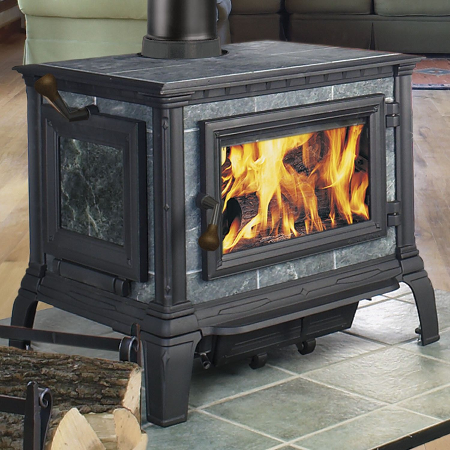 Our new wood stove. Hearthstone Equinox 8000. Soapstone with cast ...