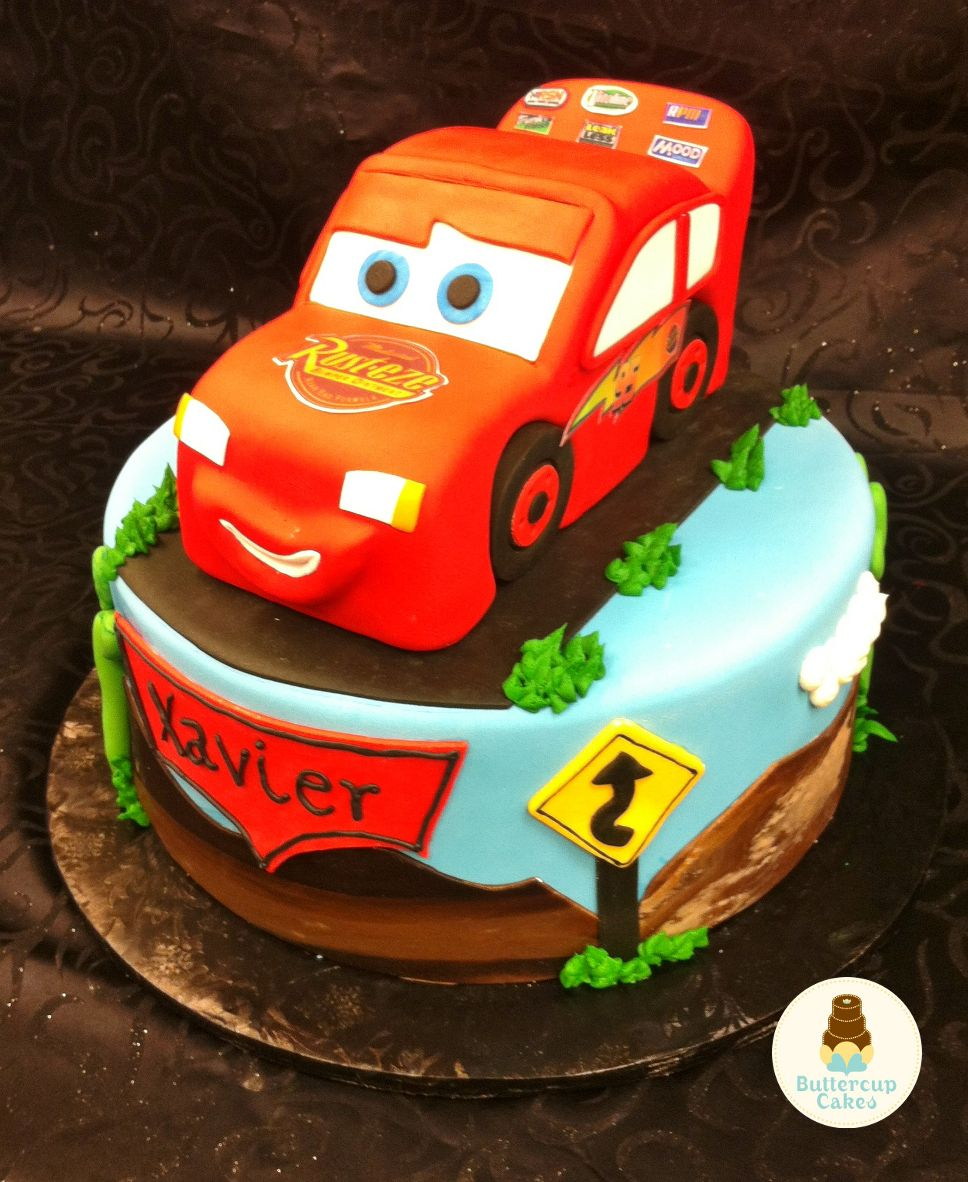 Lightening McQueen Cars Birthday Cake Mcqueen Character Cakes Cartoon Characters