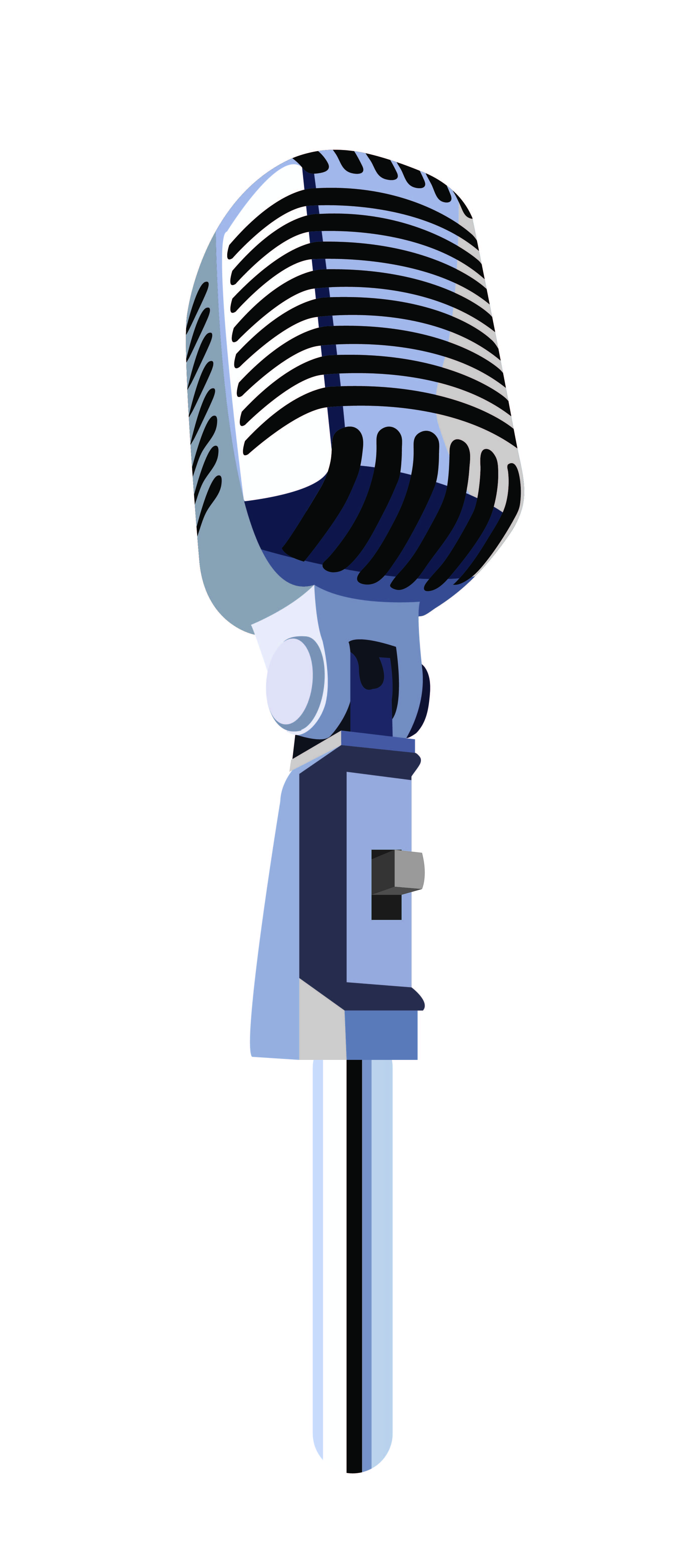 Microphone Vector Detailing By Sisil Gig Posters Design Modern Logotype Design Inspirational Artwork