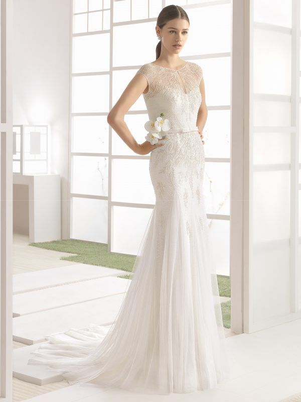 2d6088908076 Mira Couture Rosa Clara Soft Wilbour Bridal Wedding Gown Dress Chicago  Boutique Front