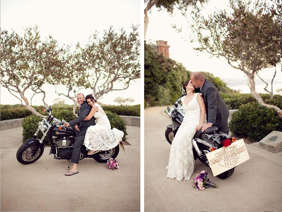 Biker Wedding Dresses Photo With Motorcycles What About Arriving ...