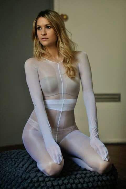 pantyhose white encasement