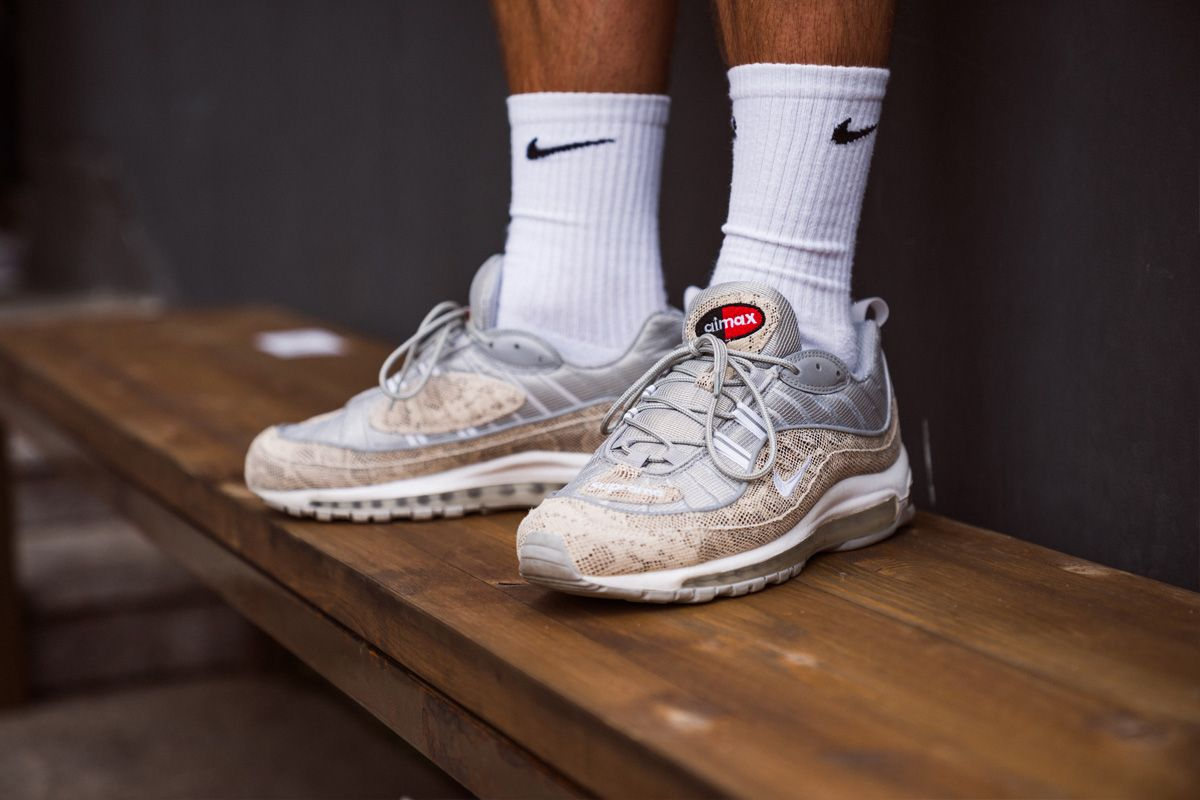 Supreme X Nike Air Max 98 Snakeskin Toms Shoes For Men Feet Gallery Toms Shoes