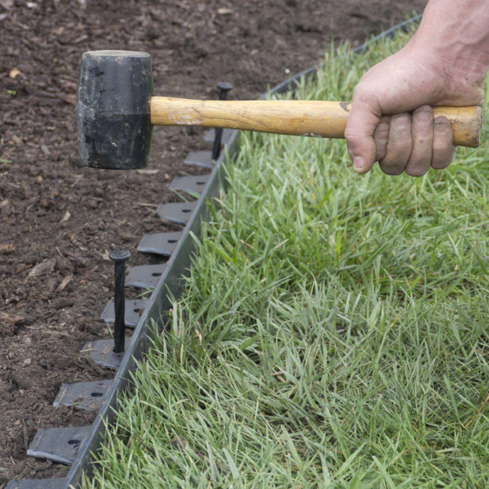 Landscape Edging Kit Garden Flexible 40 Ft Lawn Border Flower Bed Paver No  Dig