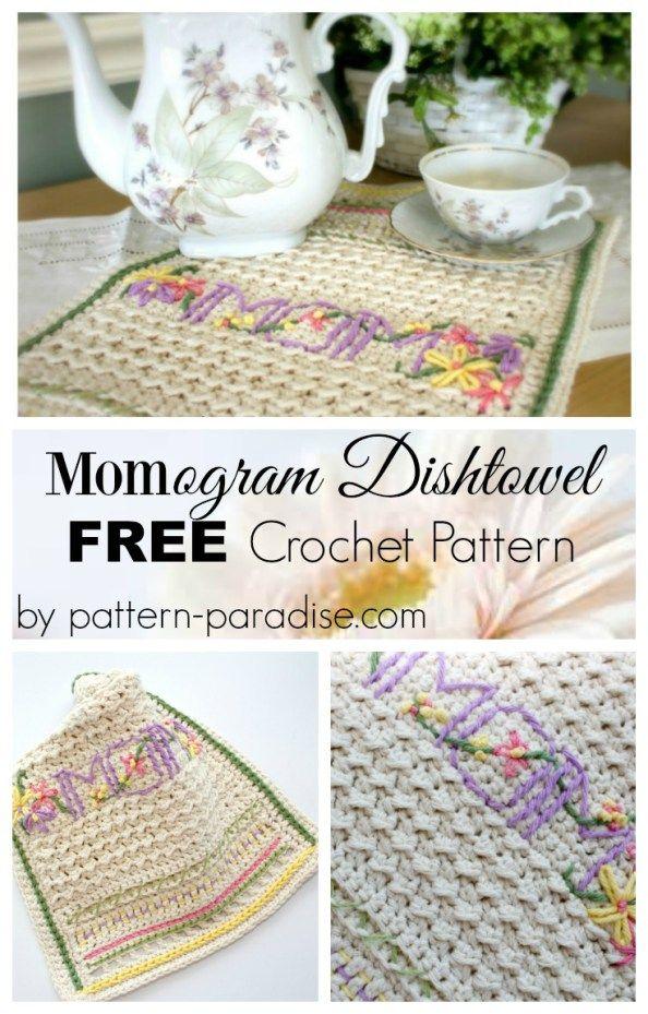 Free Crochet Pattern A New Dishtowel Embellishment 101 Pattern