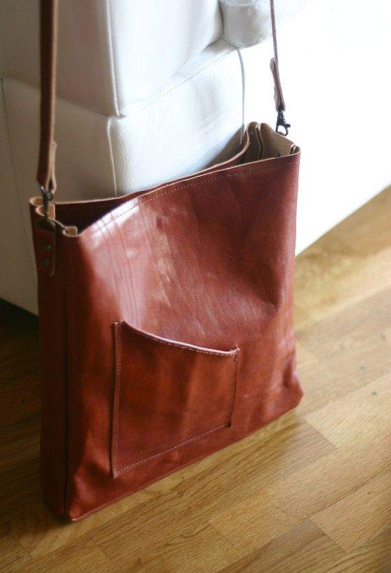 Leather Messenger Bag leather bag by Creazionidiangelina