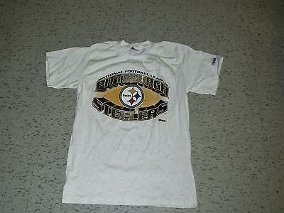 Pittsburgh Steelers shirt 90 s T-Shirt Medium NEW mint RaRe light gray  vintage please retweet 1109bf576