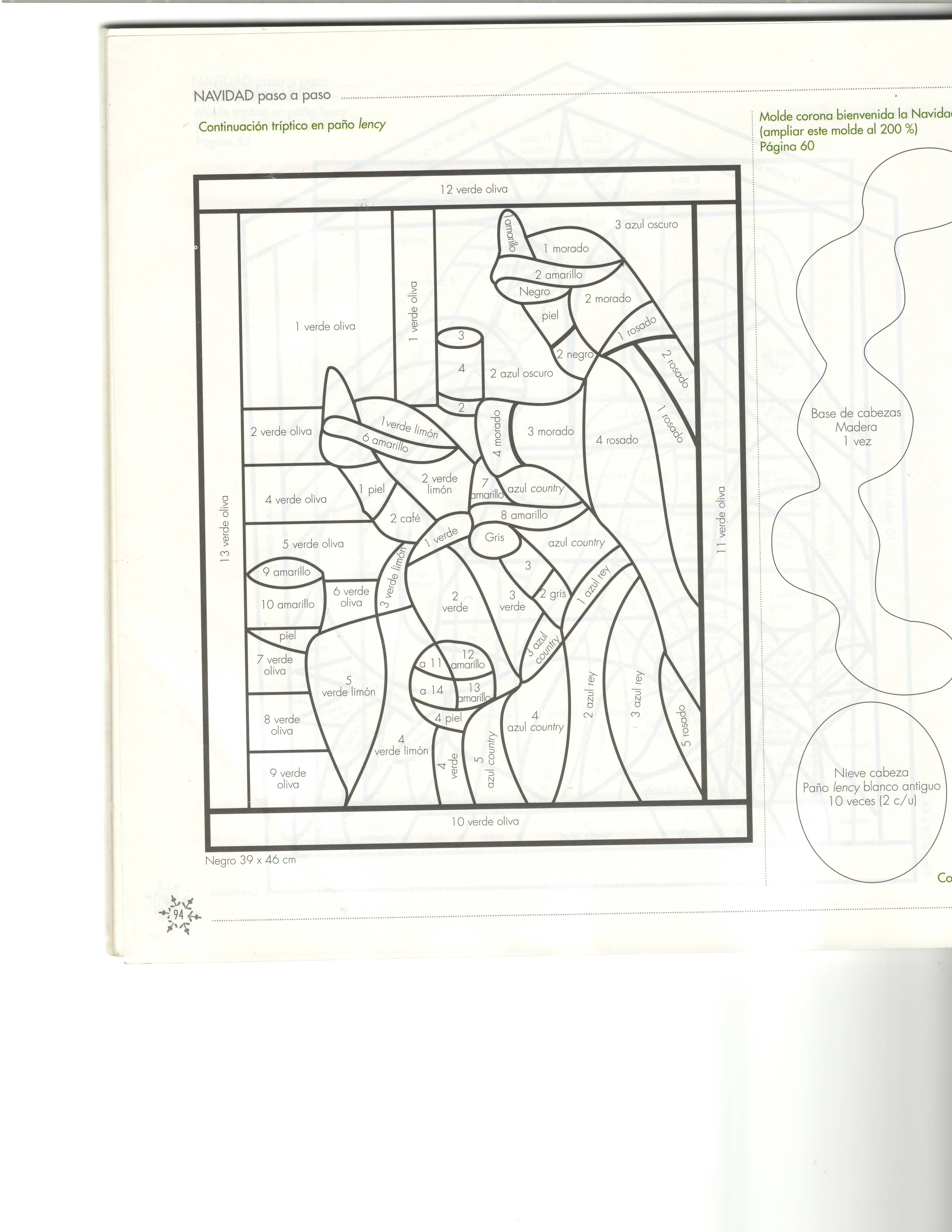molde triptico 3-3 | Cuadros navidad | Pinterest | Zeichnen