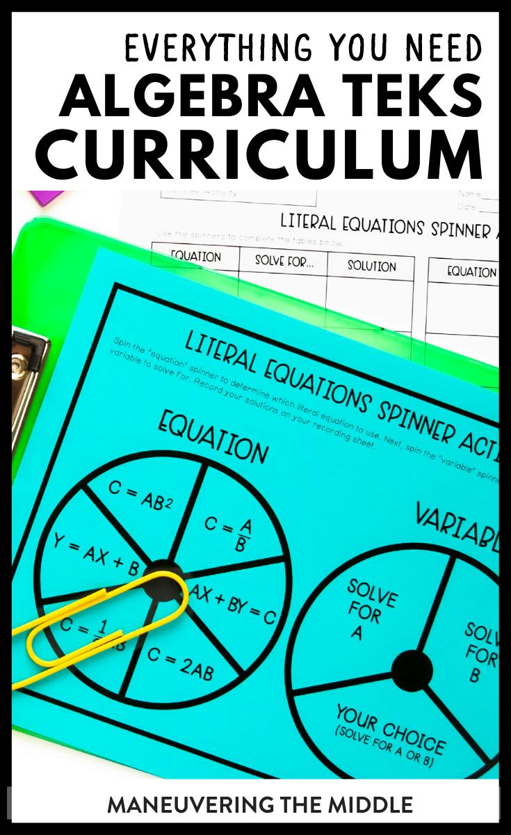 Algebra 1 Math Curriculum Teks Maneuvering The Middle Math Curriculum Algebra 1 Curriculum [ 1200 x 735 Pixel ]