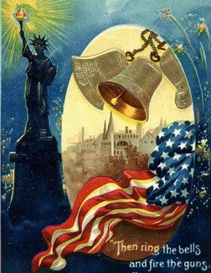 REPRINT PICTURE of old postcard 4TH OF JULY HONOR THE BRAVE usa flags 5x7