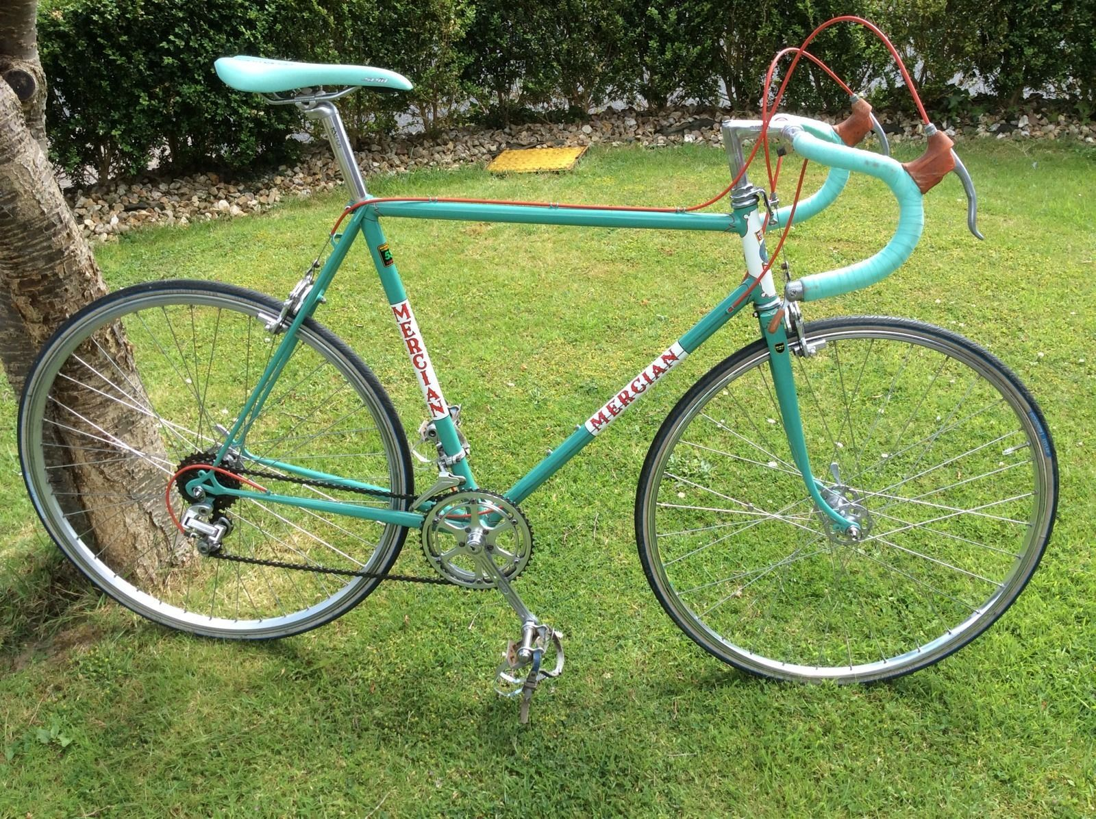 Vintage Retro Classic Mercian Road Bike Campagnolo Shifters Record Hubs Ebay Road Bike Vintage Classic Road Bike Vintage Bike Parts
