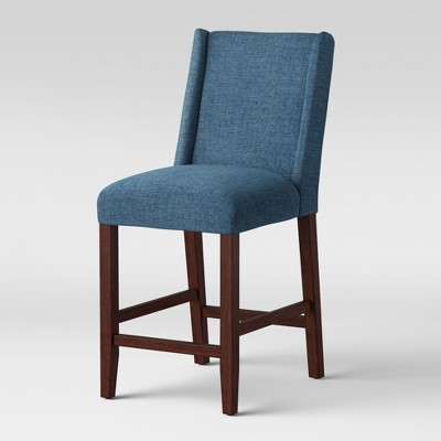 Incredible 24 Lowell Modified Wingback Counter Stool Navy Threshold Machost Co Dining Chair Design Ideas Machostcouk