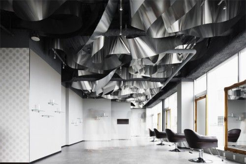 This Modern Beauty Hair Salon Interior Design Has Innovative Design Concept Take Water As Main Them Beauty Salon Interior Salon Interior Design Salon Interior