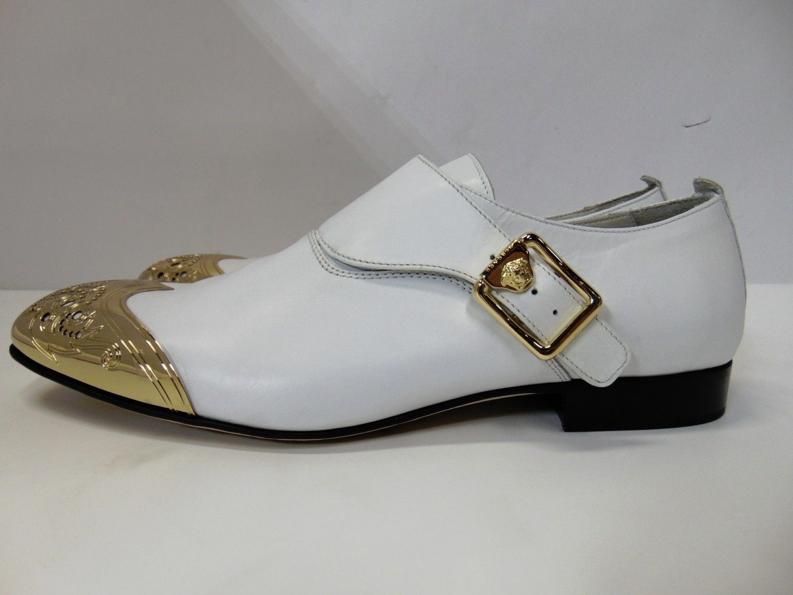 Versace Men S Dress Shoes Versace Mens Leather Dress Shoes Formal Oxford White Gold Tips It 42 Dress Shoes Men Leather Dress Shoes Versace Men [ 1200 x 1600 Pixel ]